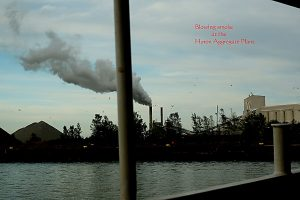 Huron blowing smoke