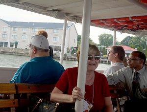 Huron folks on boat