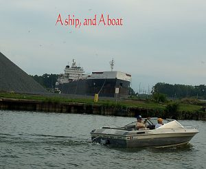 Huron ship boat