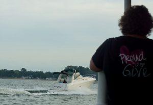 Huron watching boat